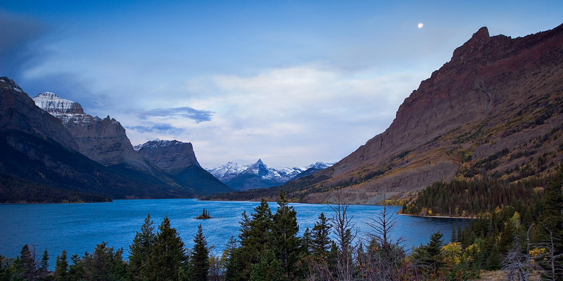 Wild Goose Island in St Mary's Lake, Glacier National Park, Montana
